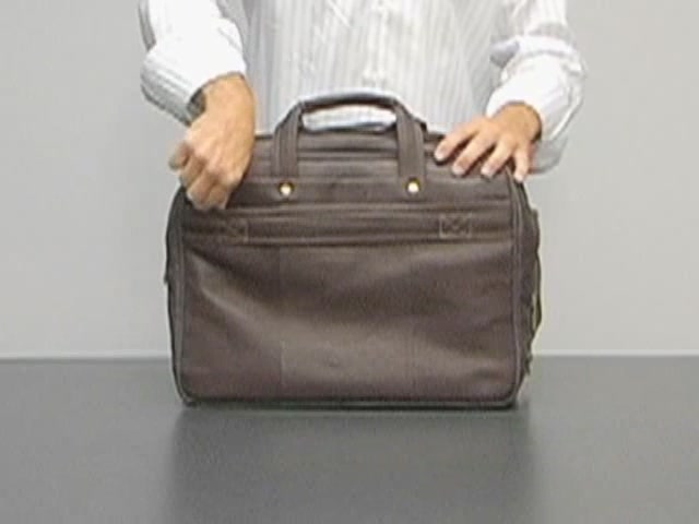 eBags Laptop Collection Colombian Leather Deluxe Laptop Brief - image 7 from the video