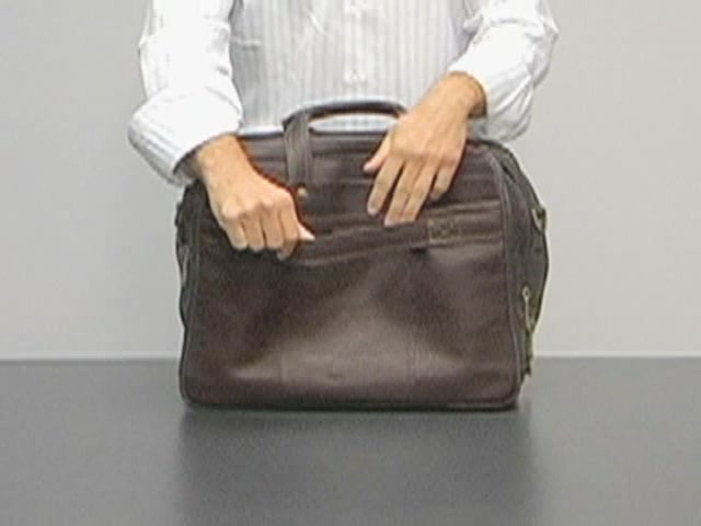 eBags Laptop Collection Colombian Leather Deluxe Laptop Brief - image 8 from the video