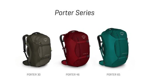 Osprey Porter Travel Backpack Series - image 3 from the video