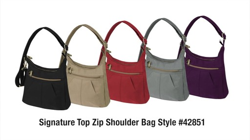 Travelon Anti-Theft Signature Top Zip Shoulder Bag - eBags.com - image 10 from the video