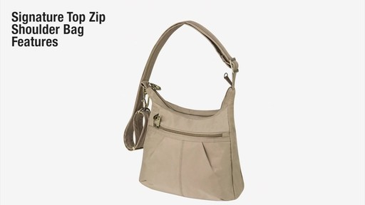 Travelon Anti-Theft Signature Top Zip Shoulder Bag - eBags.com - image 2 from the video
