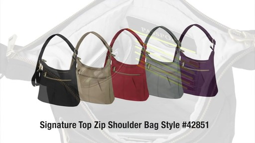 Travelon Anti-Theft Signature Top Zip Shoulder Bag - eBags.com - image 9 from the video