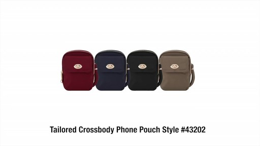 Travelon Anti-Theft Tailored Crossbody Phone Pouch - image 10 from the video