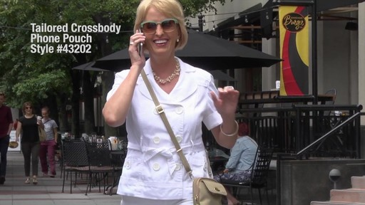 Travelon Anti-Theft Tailored Crossbody Phone Pouch - image 2 from the video