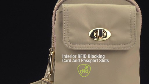 Travelon Anti-Theft Tailored Crossbody Phone Pouch - image 5 from the video