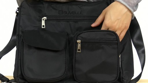 Suvelle Carryall RFID Travel Everyday Shoulder Bag - image 5 from the video