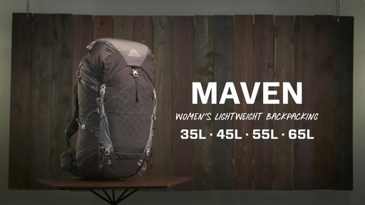 Gregory Maven Hiking Backpacks - image 1 from the video