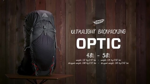 Gregory Optic Large Hiking Backpack - image 1 from the video
