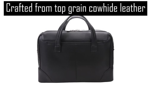 McKlein USA Harpswell Structured Briefcase - image 3 from the video