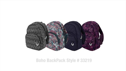 Travelon Anti-Theft Boho Backpack - image 10 from the video