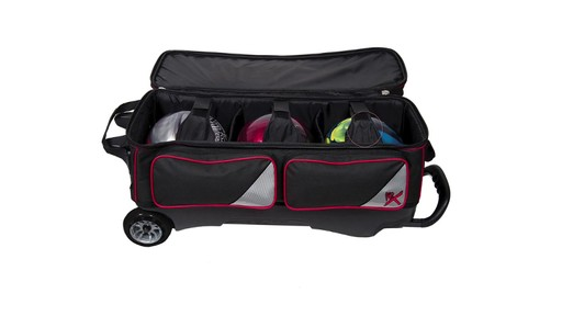 KR Strikeforce Bowling LR3 Triple Roller Bag  - eBags.com - image 8 from the video