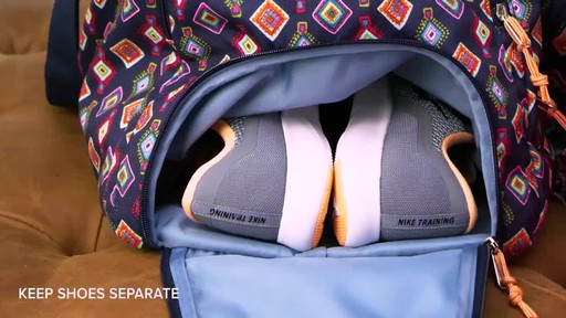 Vera Bradley Lighten Up Ultimate Gym Bag - image 3 from the video