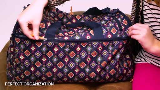 Vera Bradley Lighten Up Ultimate Gym Bag - image 5 from the video
