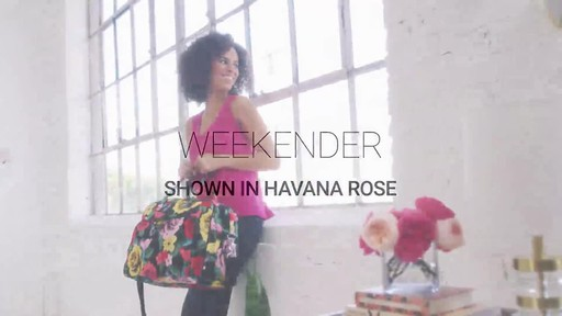 Vera Bradley Iconic Weekender Travel Bag - image 1 from the video