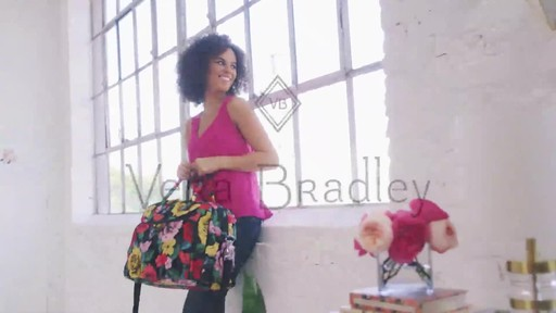 Vera Bradley Iconic Weekender Travel Bag - image 10 from the video