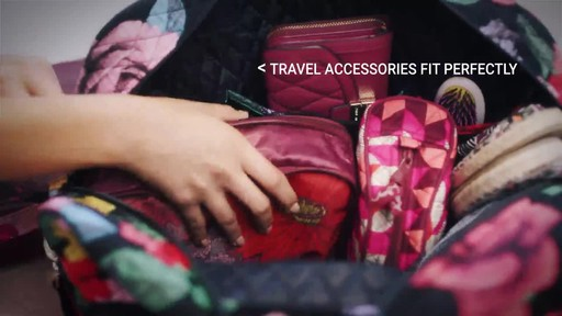 Vera Bradley Iconic Weekender Travel Bag - image 4 from the video