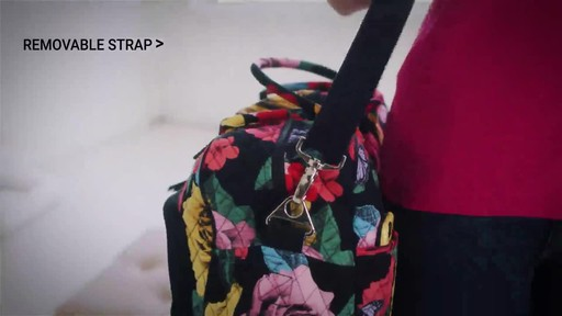 Vera Bradley Iconic Weekender Travel Bag - image 7 from the video