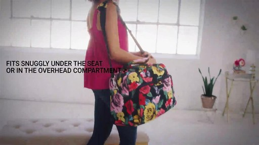 Vera Bradley Iconic Weekender Travel Bag - image 8 from the video