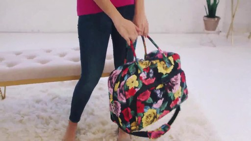 Vera Bradley Iconic Weekender Travel Bag - image 9 from the video
