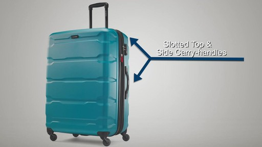 The Samsonite Omni PC Hardside Spinner on eBags.com - image 5 from the video
