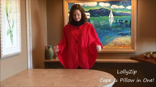 LollyZip Wrap n' Roll Travel Cape and Neck Pillow in One - image 1 from the video