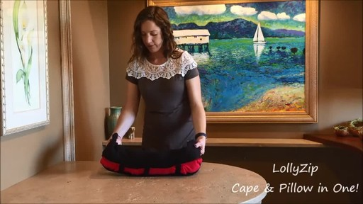 LollyZip Wrap n' Roll Travel Cape and Neck Pillow in One - image 10 from the video