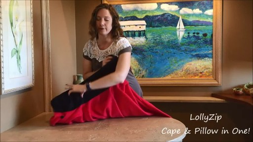 LollyZip Wrap n' Roll Travel Cape and Neck Pillow in One - image 3 from the video
