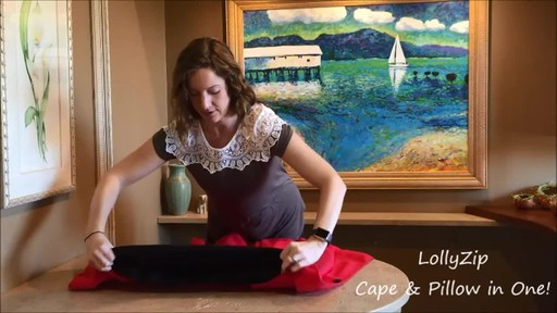 LollyZip Wrap n' Roll Travel Cape and Neck Pillow in One - image 4 from the video