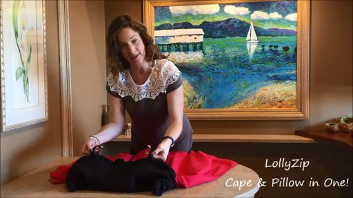 LollyZip Wrap n' Roll Travel Cape and Neck Pillow in One - image 5 from the video