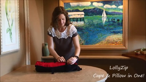 LollyZip Wrap n' Roll Travel Cape and Neck Pillow in One - image 8 from the video