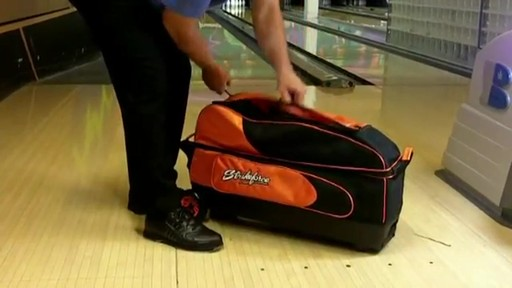 KR Strikeforce Bowling Cruiser Smooth Triple Roller Bag - eBags.com - image 5 from the video