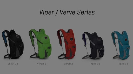 Osprey Viper and Verve Backpacks - image 1 from the video