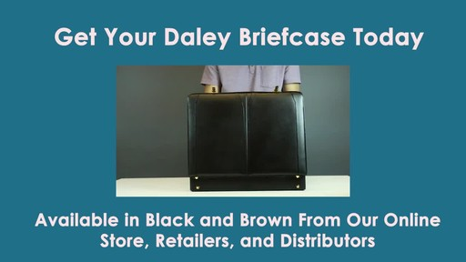 McKlein USA Daley Leather Attache Case - image 10 from the video