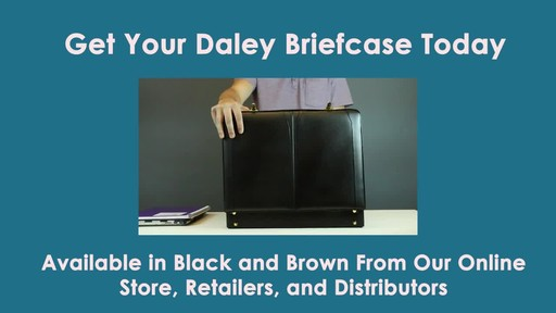 McKlein USA Daley Leather Attache Case - image 9 from the video