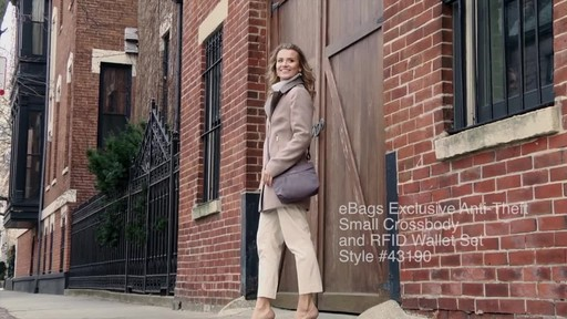 Travelon Anti-Theft Crossbody and RFID Clutch Wallet Set- Exclusive - image 10 from the video