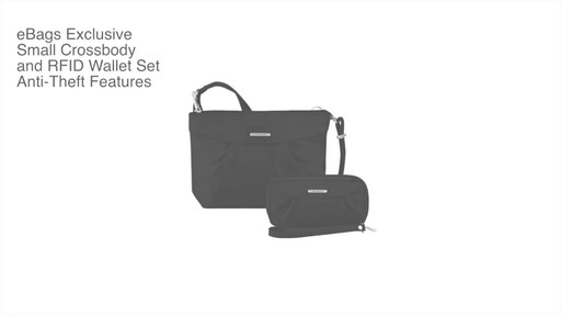 Travelon Anti-Theft Crossbody and RFID Clutch Wallet Set- Exclusive - image 2 from the video