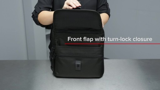 Tumi Alpha Bravo Arnold Zip Flap - image 5 from the video