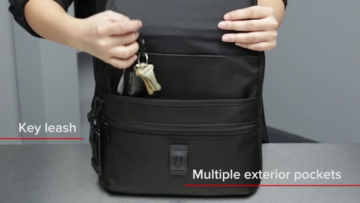 Tumi Alpha Bravo Arnold Zip Flap - image 6 from the video