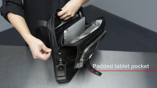 Tumi Alpha Bravo Arnold Zip Flap - image 7 from the video