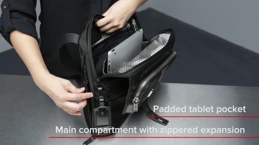 Tumi Alpha Bravo Arnold Zip Flap - image 8 from the video