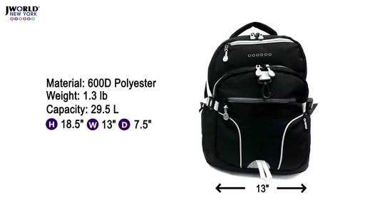 J World New York Atom Laptop Backpack - image 1 from the video