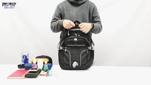 J World New York Atom Laptop Backpack - image 4 from the video