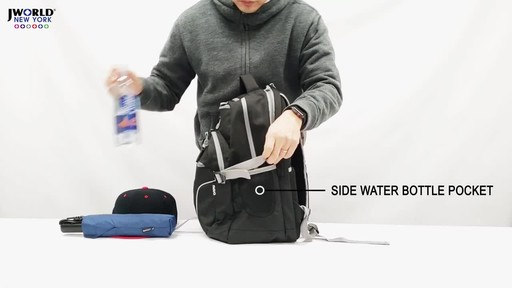 J World New York Atom Laptop Backpack - image 8 from the video