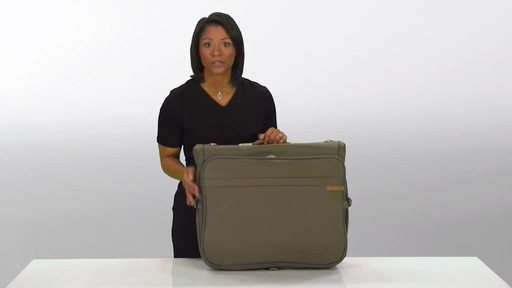 Briggs & Riley Deluxe Garment Bag - image 1 from the video