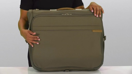 Briggs & Riley Deluxe Garment Bag - image 2 from the video