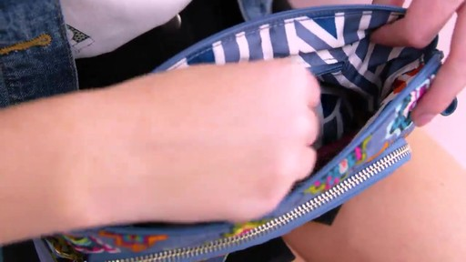 Vera Bradley Iconic RFID Little Hipster - image 2 from the video