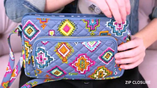 Vera Bradley Iconic RFID Little Hipster - image 5 from the video