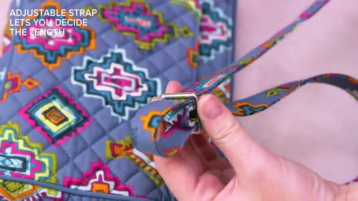 Vera Bradley Iconic RFID Little Hipster - image 6 from the video