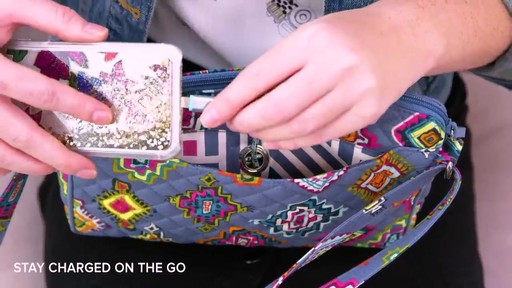 Vera Bradley Iconic RFID Little Hipster - image 8 from the video