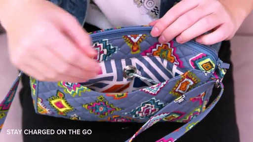 Vera Bradley Iconic RFID Little Hipster - image 9 from the video